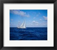 Framed Sailboat in the Bahamas