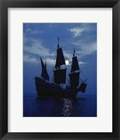 Framed Replica of Mayflower II