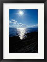 Framed Sunstar Over Yellowstone Lake