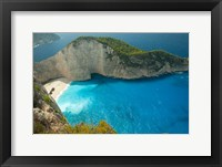Framed Shipwreck Bay, Zakynthos, Ionian Islands, Greece