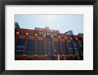 Framed Facade of the Lucas Oil Stadium, Indianapolis, Indiana