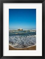 Framed Shipwreck on the beach, Skeleton Coast, Namibia