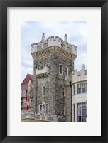 Framed Tower on Casa Loma Castle, Toronto, Ontario, Canada
