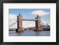 Framed Tower Bridge, Thames River, London, England