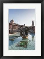Framed National Gallery, St Martin-in-the-Fields, Trafalgar Square, London, England