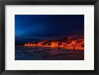 Framed Glowing Lava, Iceland
