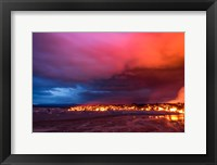 Framed Glowing Lava and Skies at the Holuhraun Fissure, Iceland