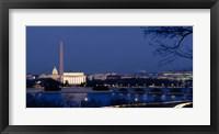 Framed Washington Monument, Lincoln Memorial, Capitol Building, Washington DC