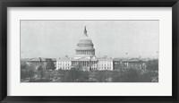 Framed US Capitol, Washington DC, 1916