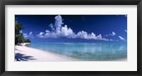 Framed Matira Beach, Bora Bora Polynesia