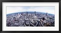 Framed Ariel View of Atlanta, Georgia