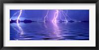 Framed Lightning over the sea