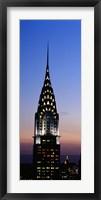 Framed Chrysler Building, Manhattan, New York City