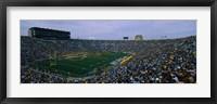 Framed Notre Dame Stadium, South Bend, Indiana