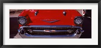 Framed Hood Ornament of a 57 Chevy