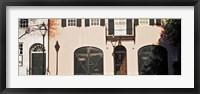 Framed Historic houses in Rainbow Row, Charleston, South Carolina