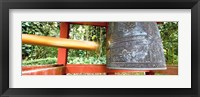 Framed Bell in a Buddhist temple, Byodo-In Temple, Oahu, Hawaii