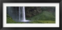Framed Waterfall in a Forest, Iceland