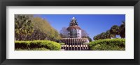 Framed Pineapple fountain in a park, Waterfront Park, Charleston, South Carolina, USA