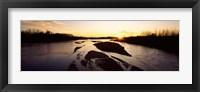 Framed Platte River at Sunset, Nebraska