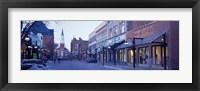 Framed Church Street in Burlington, Vermont