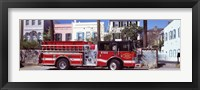 Framed Fire Truck, Charleston, South Carolina