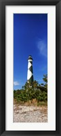 Framed Cape Lookout Lighthouse, Outer Banks, North Carolina