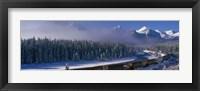 Framed Train Banff National Park, Alberta, Canada