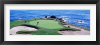 Framed Golfers Pebble Beach, California