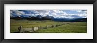 Framed Sawtooth Mountains, Idaho