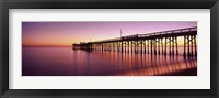 Framed Balboa Pier at sunset, Newport Beach, Orange County, California, USA