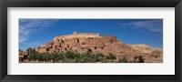 Framed Ksar Ait Benhaddou along the Ounila River, Souss-Massa-Draa, Morocco