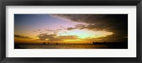 Framed Key West Sea at Sunset, Monroe County, Florida