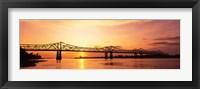 Framed Bridge At Sunset, Mississippi
