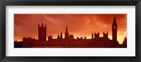 Framed Houses of Parliament, London, England