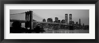Framed Brooklyn Bridge, Manhattan, NYC