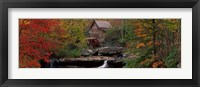 Framed Glade Creek Grist Mill, West Virginia