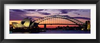 Framed Sydney Harbor Bridge At Sunset,  Australia