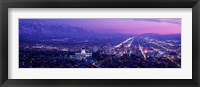Framed Salt Lake City at Night, Utah