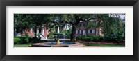 Framed Columbia Square Historic District, Savannah, GA