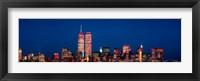 Framed New York City Skyline with World Trade Center