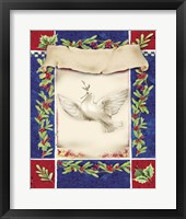 Framed Mistletoe Holiday Dove