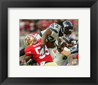 Framed Marshawn Lynch 2015 Action