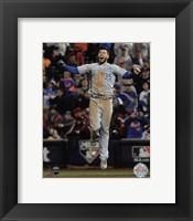 Framed Eric Hosmer celebrates winning Game 5 of the 2015 World Series