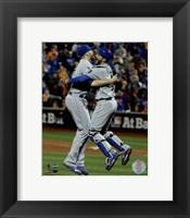 Framed Wade Davis & Drew Butera celebrate winning Game 5 of the 2015 World Series
