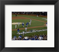 Framed Kansas City Royals celebrate winning Game 5 of the 2015 World Series