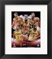 Framed Cleveland Cavaliers 2015-16 Team Composite