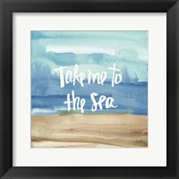 Coastal Breeze Quotes II Framed Print