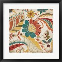 Boho Paisley Spice I Framed Print