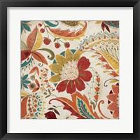 Boho Paisley Spice II Framed Print